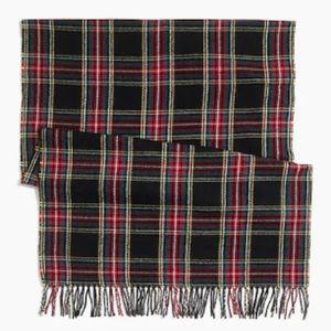 J. Crew Factory Black Plaid Blanket Scarf NWT